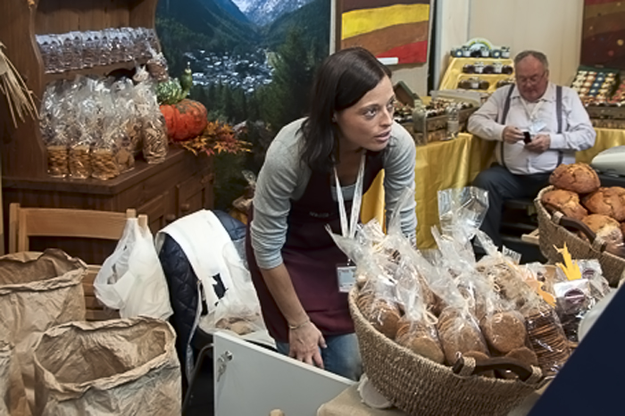 Beautiful bread vendor at Salone del Gusto