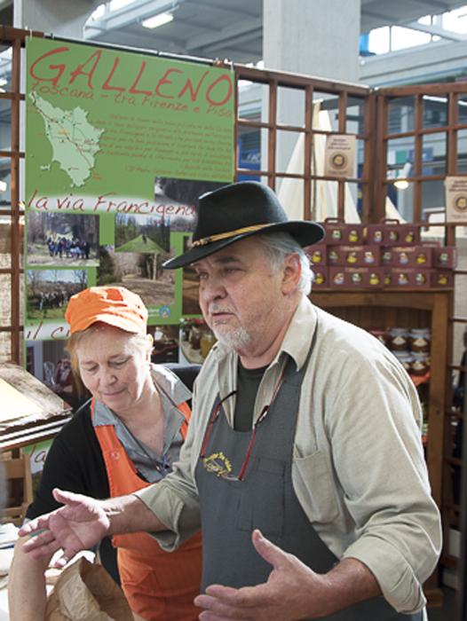 Emphatic Vendor at Salone del Gusto