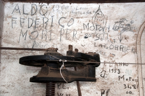 Cultural artifacts -- 100 years of graffiti tells the story of harvests past at the Pierantonj Winery In Abruzzo