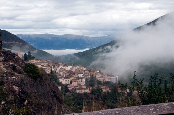 the road to scanno
